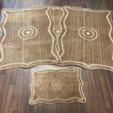 ROMANY GYPSY WASHABLES MATS FULL SETS OF 4 MATS/RUGS XLARGE 100X140CM DARK BEIGE
